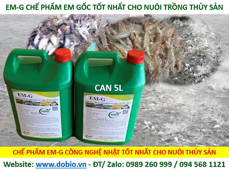 Chế Phẩm EM-G gốc dùng cho nuôi trồng thủy sản